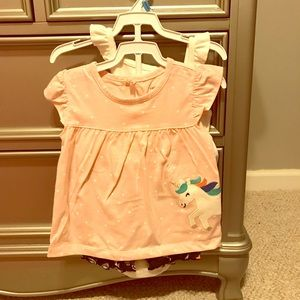 (NWT) carters baby girl three piece set